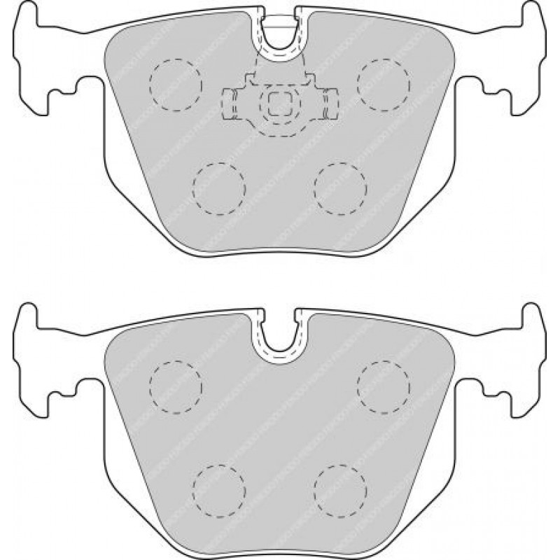 Ferodo DS2500 Rear Brake Pads for BMW X5 (E53) 4.8 is X5 (E53)
