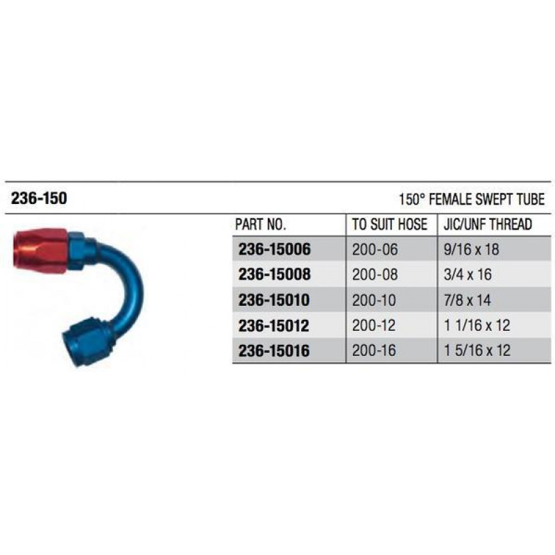 200 Series 150° Swept Cutter Fitting