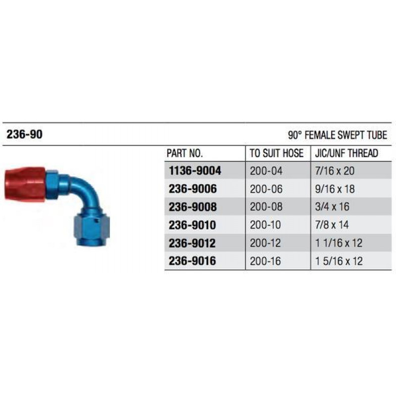 200 Series 90° Swept Cutter Fitting