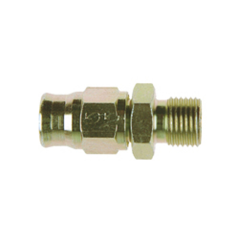 Zinc Plated Steel Straight Reusable BSP Male Fitting