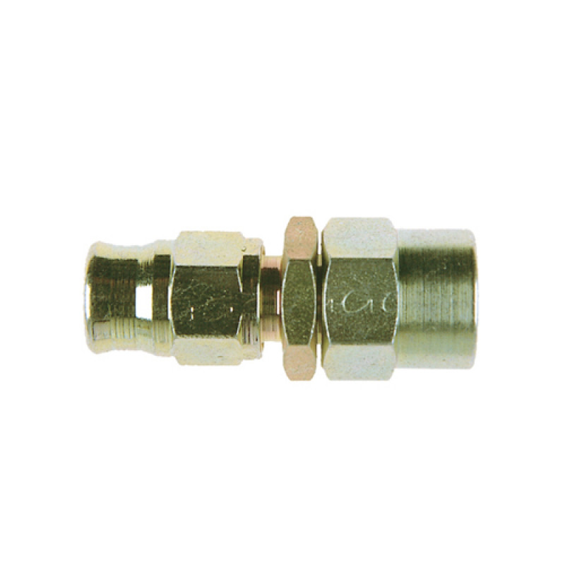Zinc Plated Steel Straight Reusable BSP Female Fitting