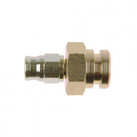 Zinc Plated Female Fitting with Circlip Groove (Concave Seat)