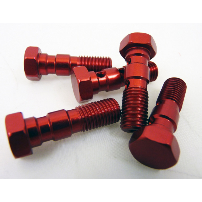 Anodised Aluminium JIC Double Banjo Bolt