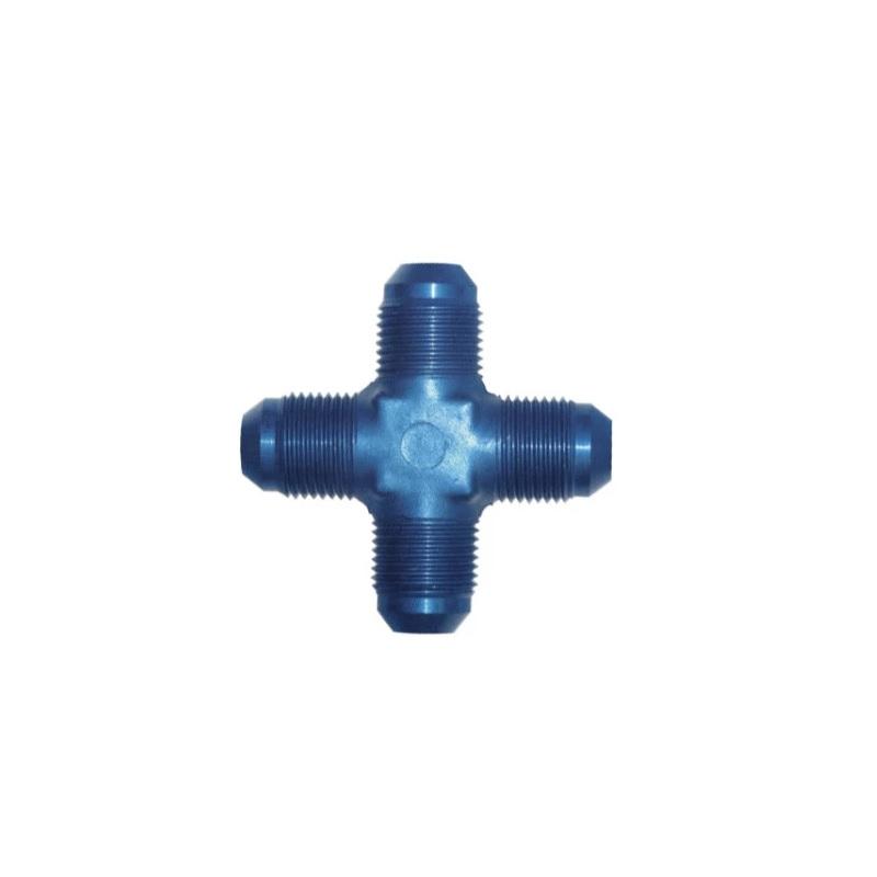 Anodised Aluminium 4 Way Male JIC