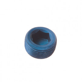 Anodised Aluminium NPT Socket Head Plug
