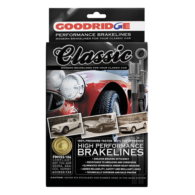 Classic Brake Hose Kit for Fiat 124 Sport Coupe