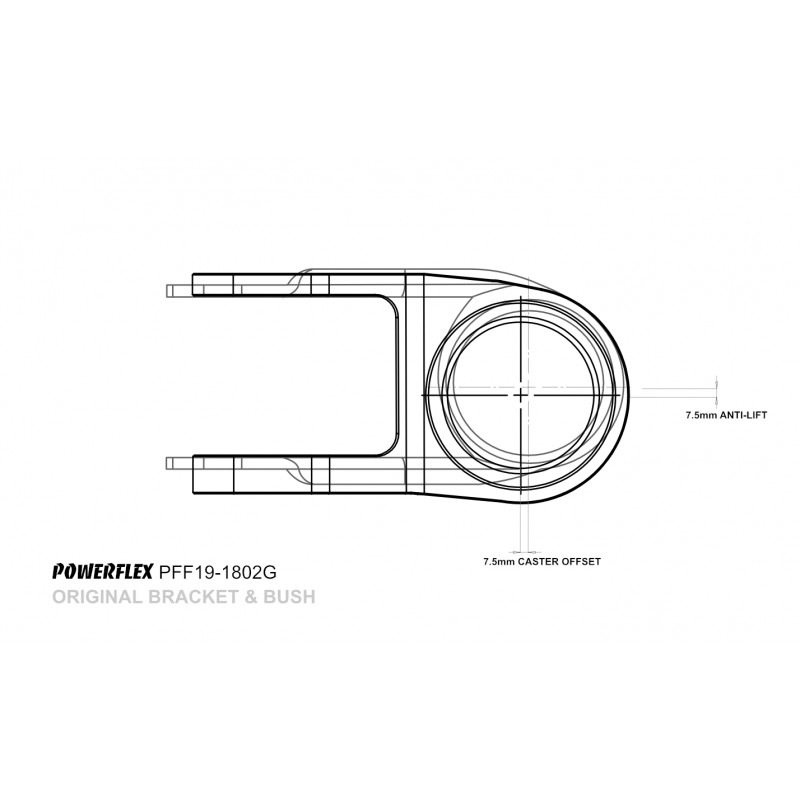 Front Wishbone Rear Bush Anti-Lift & Caster Offset  [PFF19-1802G]